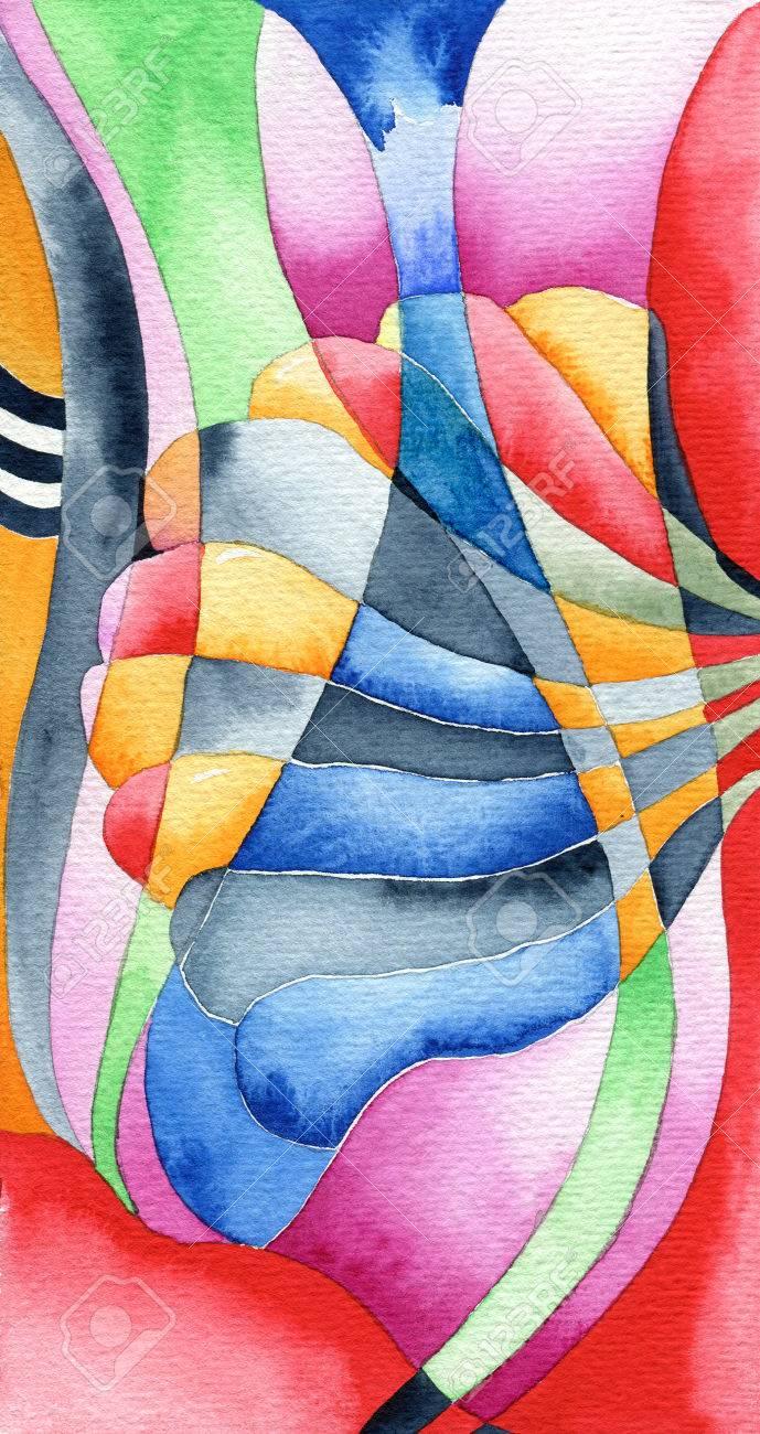 Art Nouveau Temps De Rêve, Abstraite Style Art Nouveau Peinture ...
