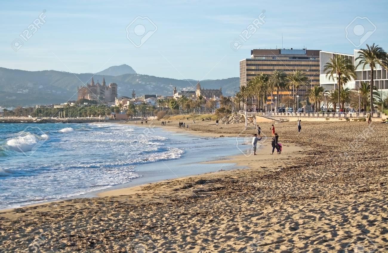 Palma De Mallorca Spain January 4 2018 Cathedral And City