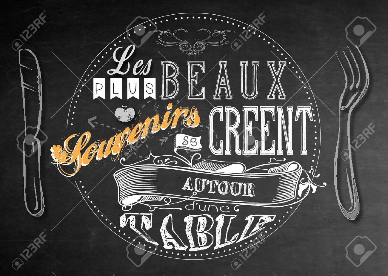 citation appears cuisine restaurant chalkboard paint vintage