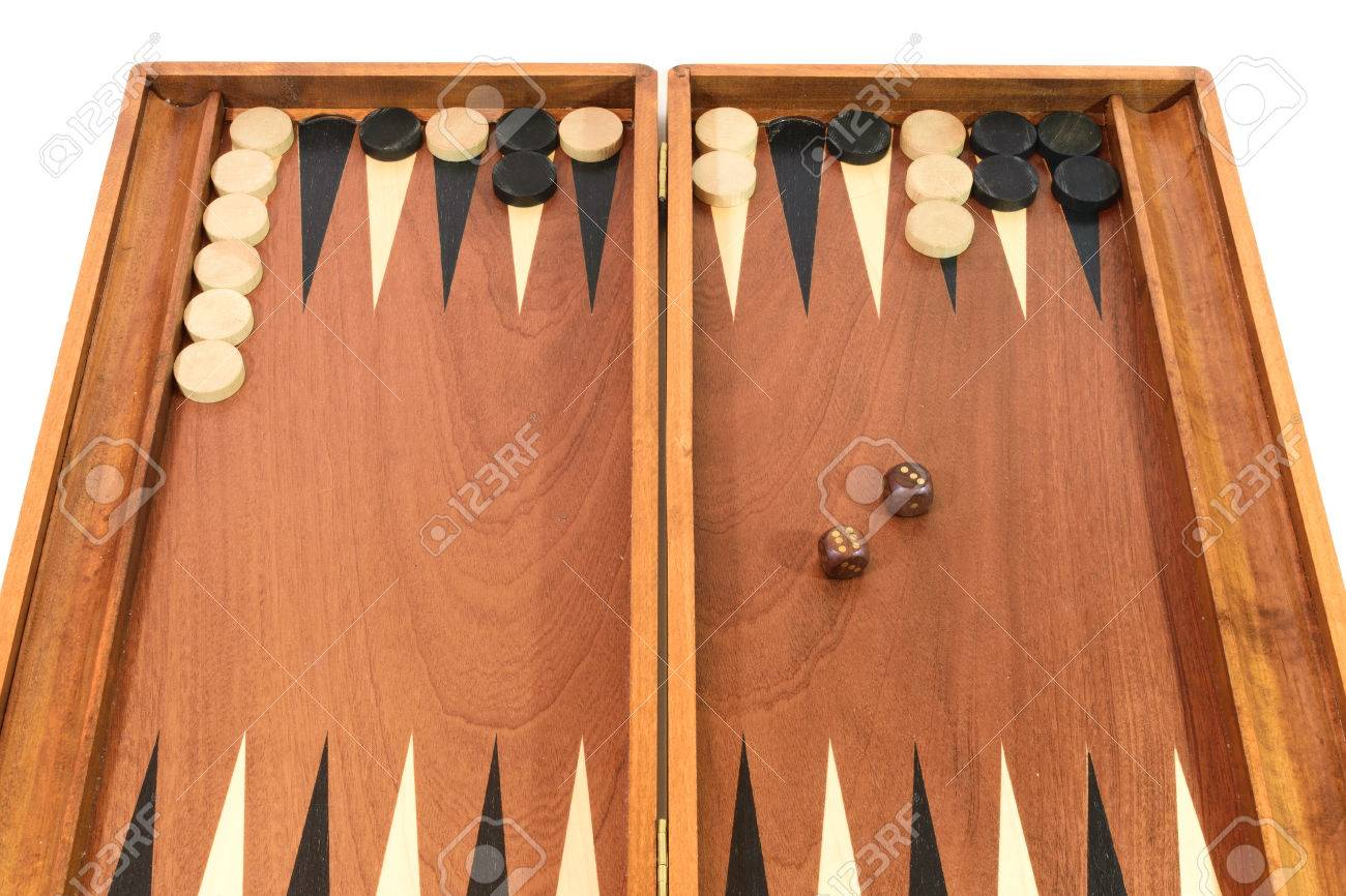Backgammon Game On A White Background Stock Photo Picture And