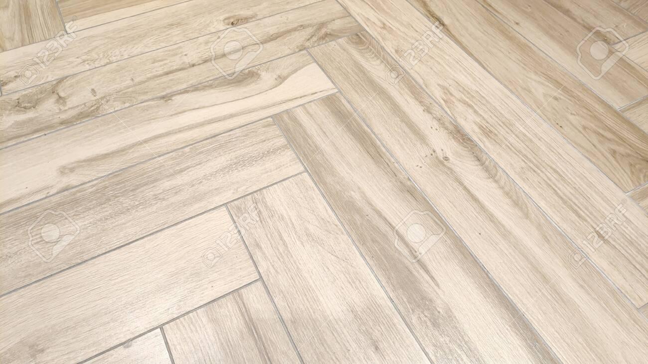 Wooden floor tiles - 136936909