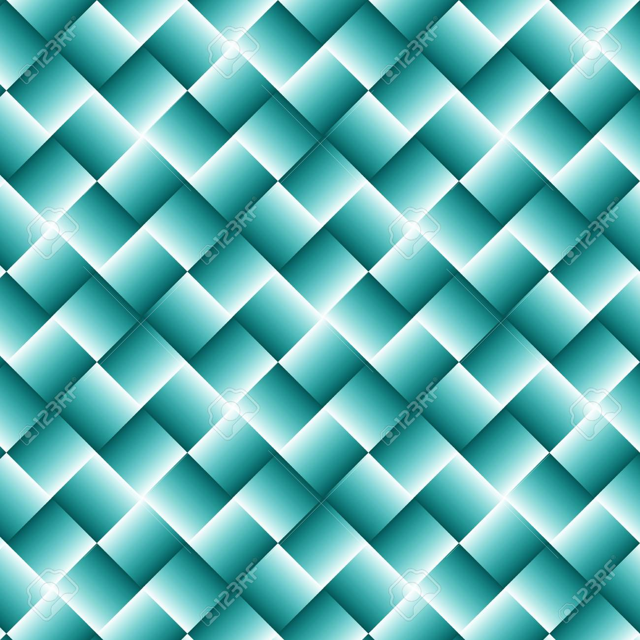 正方形の抽象的な壁紙と水色の幾何学的な背景のイラスト素材 ベクタ