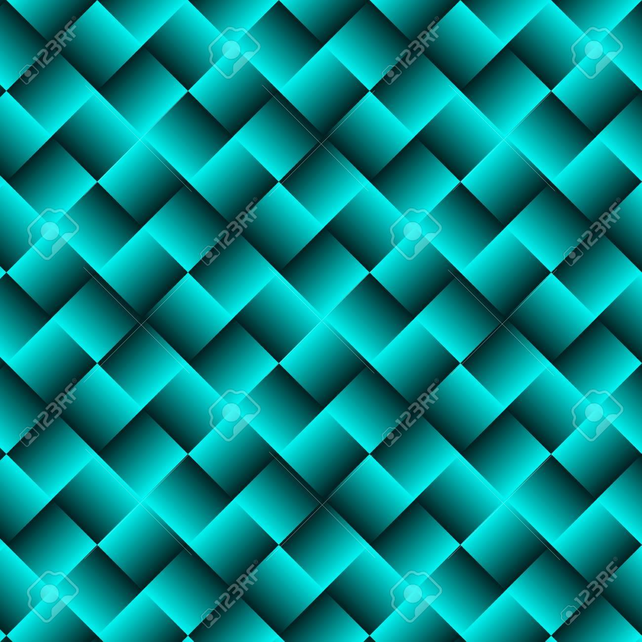 正方形の抽象的な壁紙と青色の幾何学的な背景のイラスト素材 ベクタ