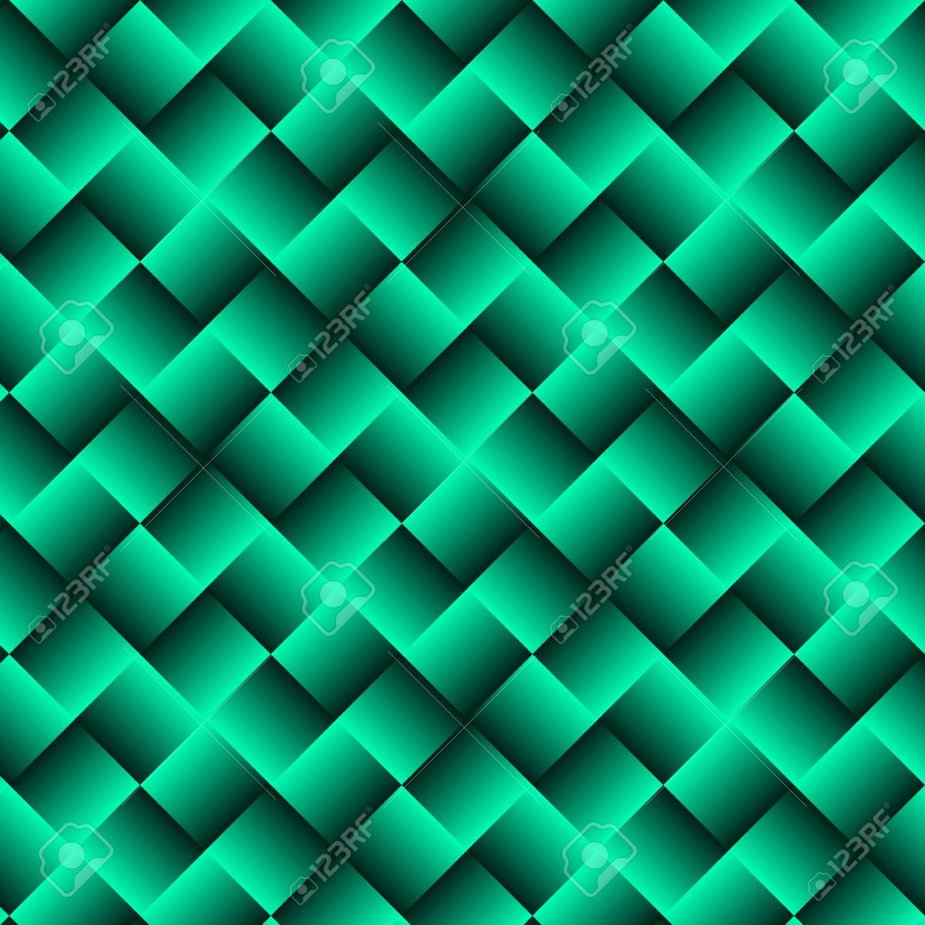 Green Geometric Background With Squares Abstract Wallpaper