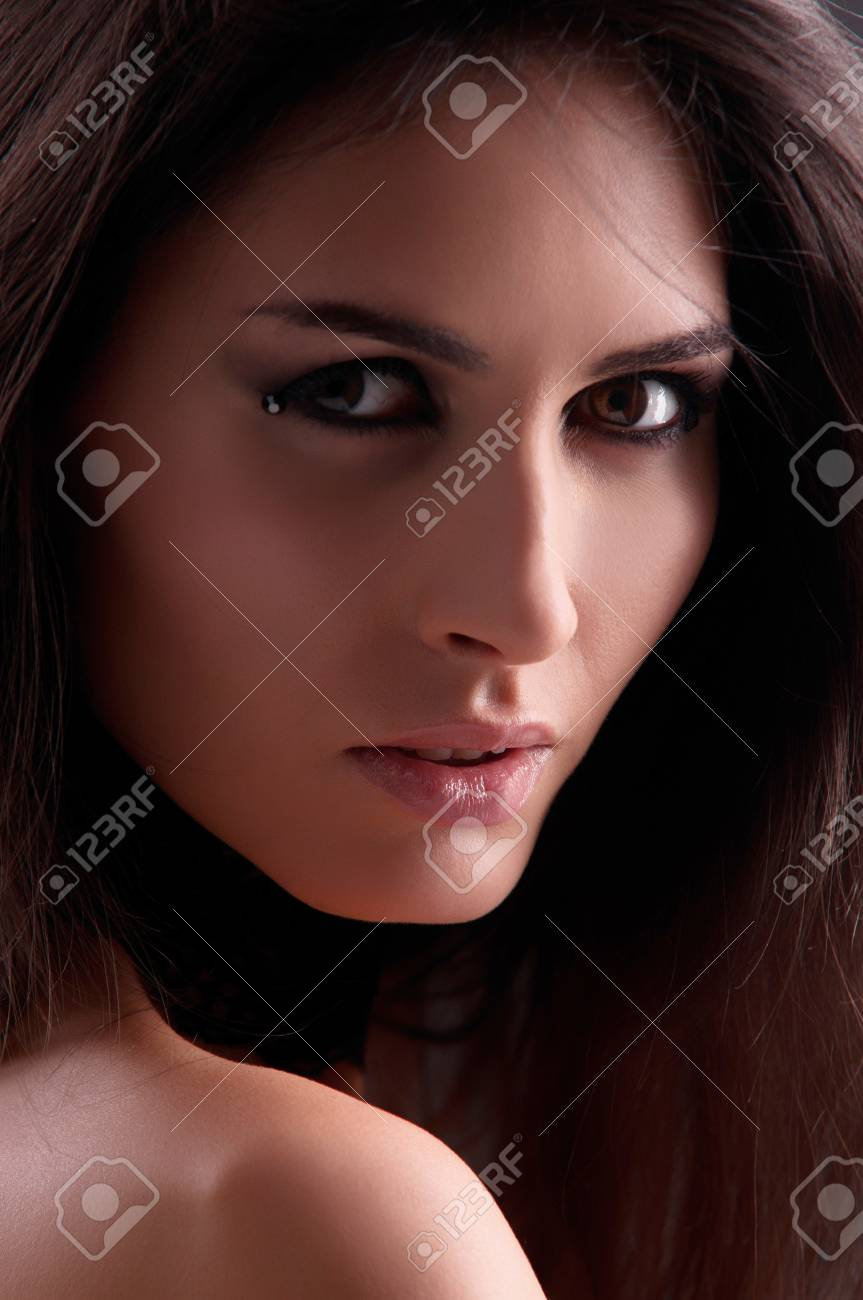 portrait of a woman on a grey background Stock Photo - 13428759