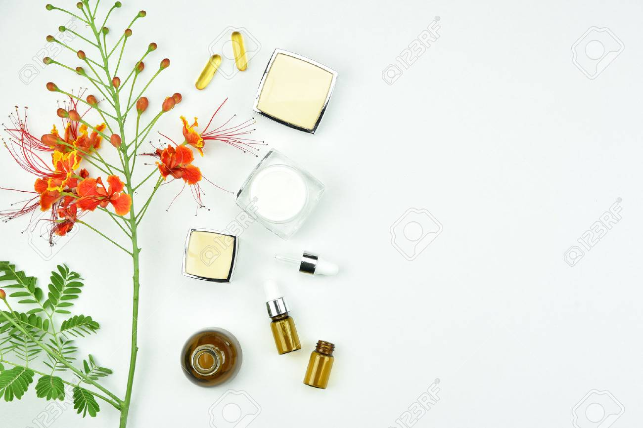 Organic Beauty Products >> Natural Background With Copy Space For Beauty Product Organic