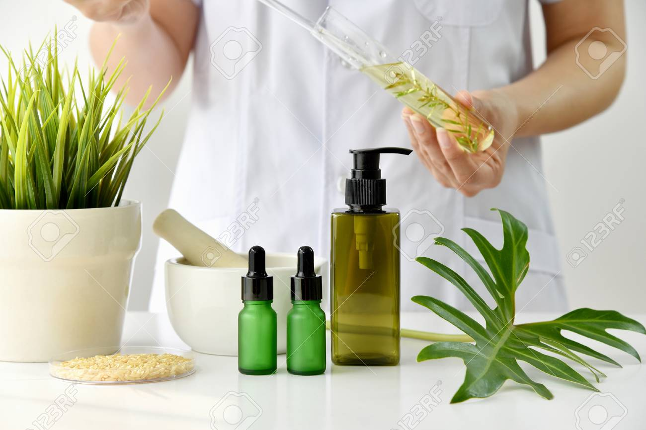 Natural Skincare Cosmetics Research And Development Concept Stock Photo Picture And Royalty Free Image Image 107759320
