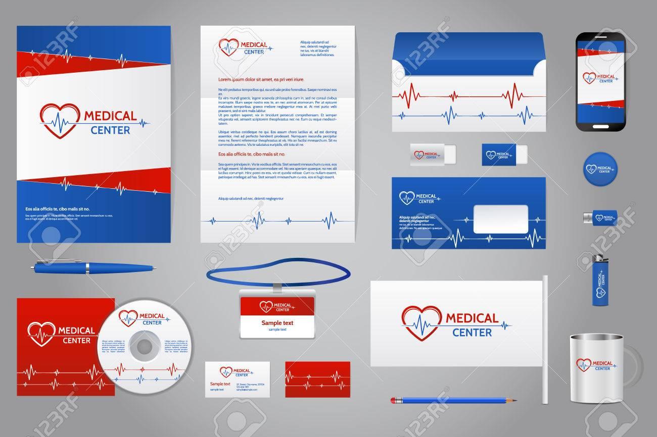 Compañía Médica Plantilla De Marca De Identidad Corporativa ...