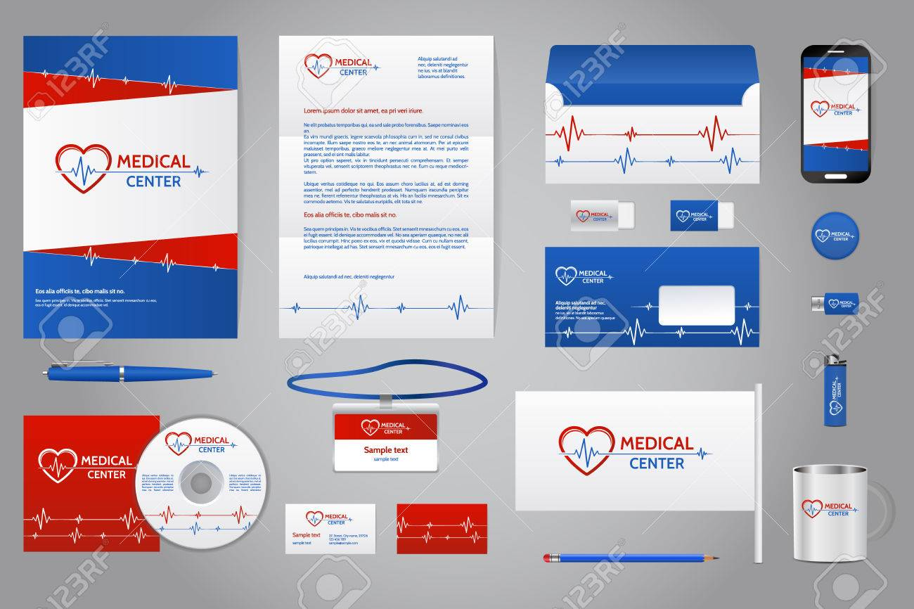 Medical company corporate identity branding template business medical company corporate identity branding template business documentation business stationery mock up with cheaphphosting Gallery