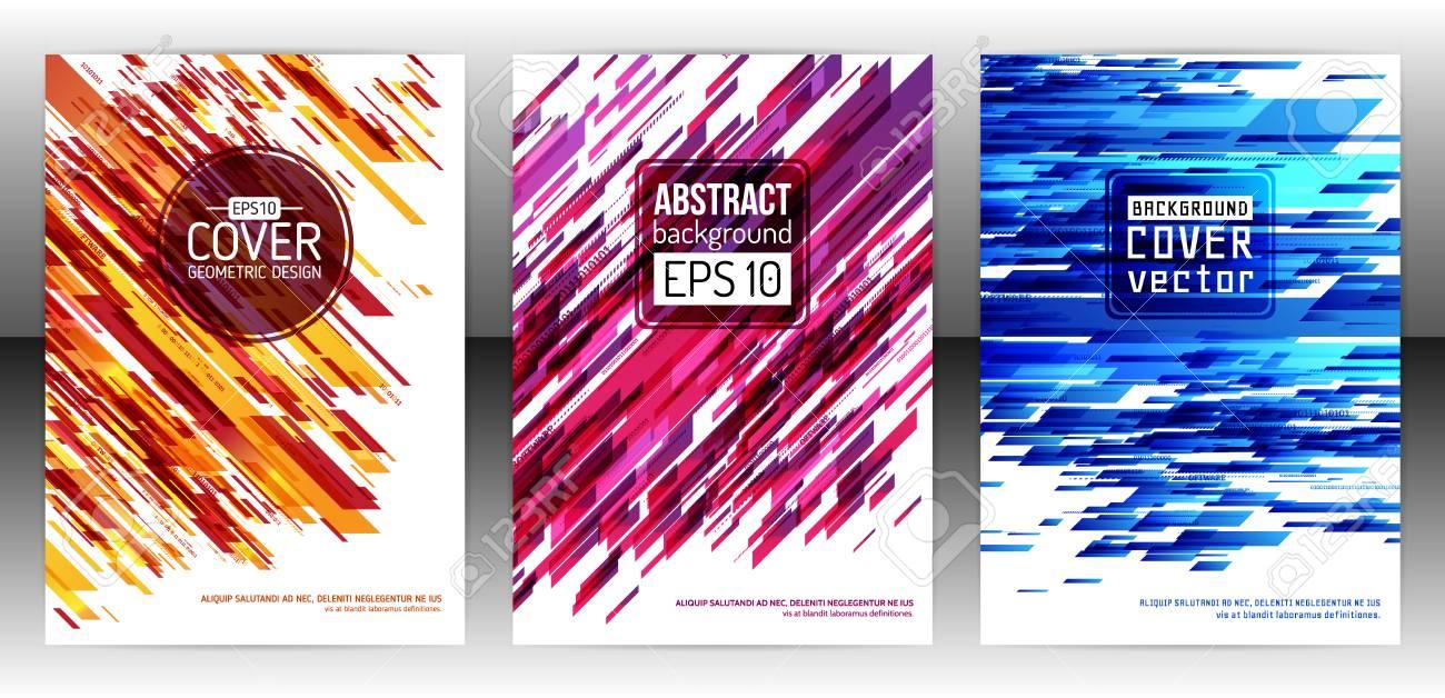 Technologie Linie Broschüre Bucheinband Layout-Vorlage. Abstrakte ...