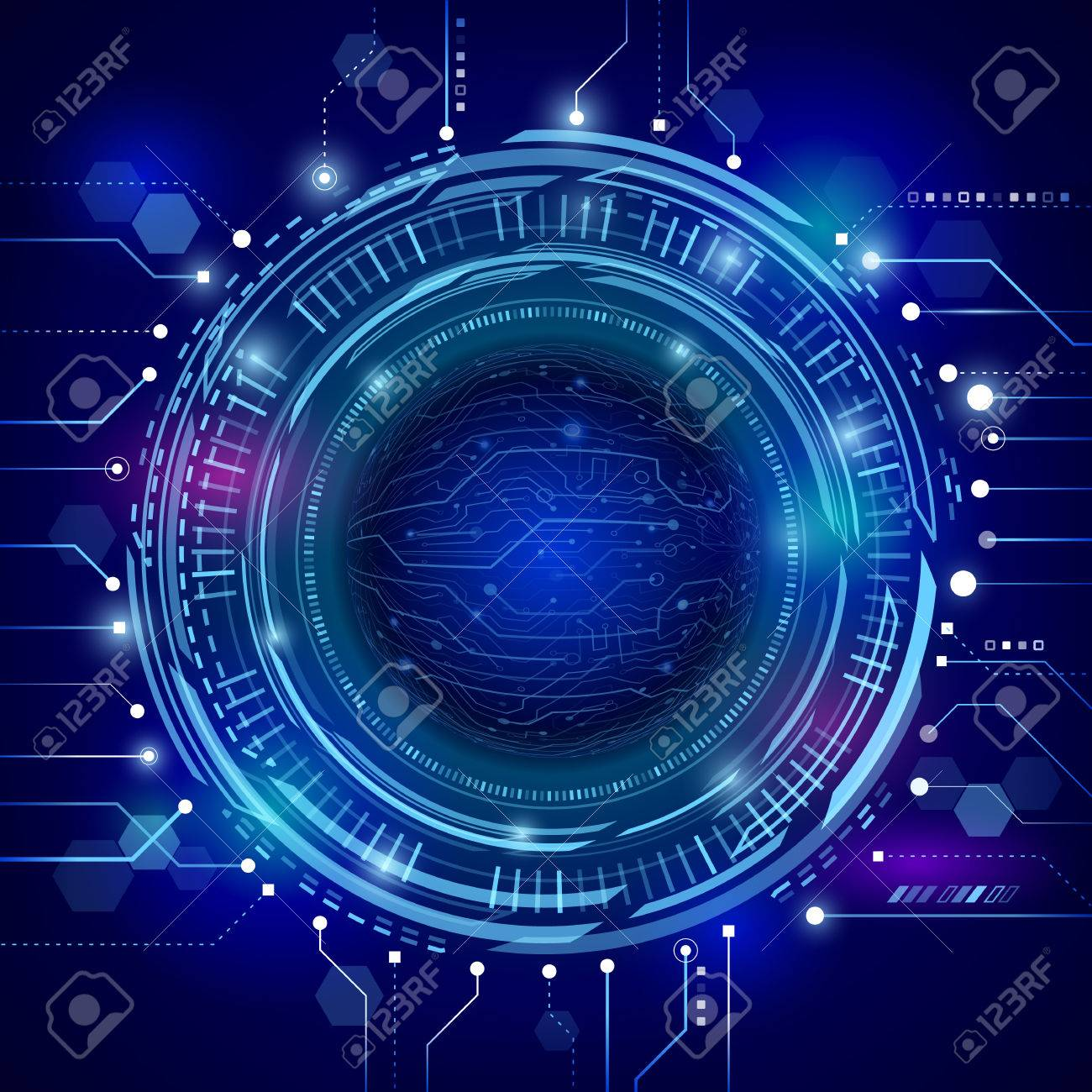 Futuristic Graphic Vector Digital Abstract Pictures Www Circuit Board Design Grunge Stock Photos Photo Hi Tech Communication Concept On The Blue Background