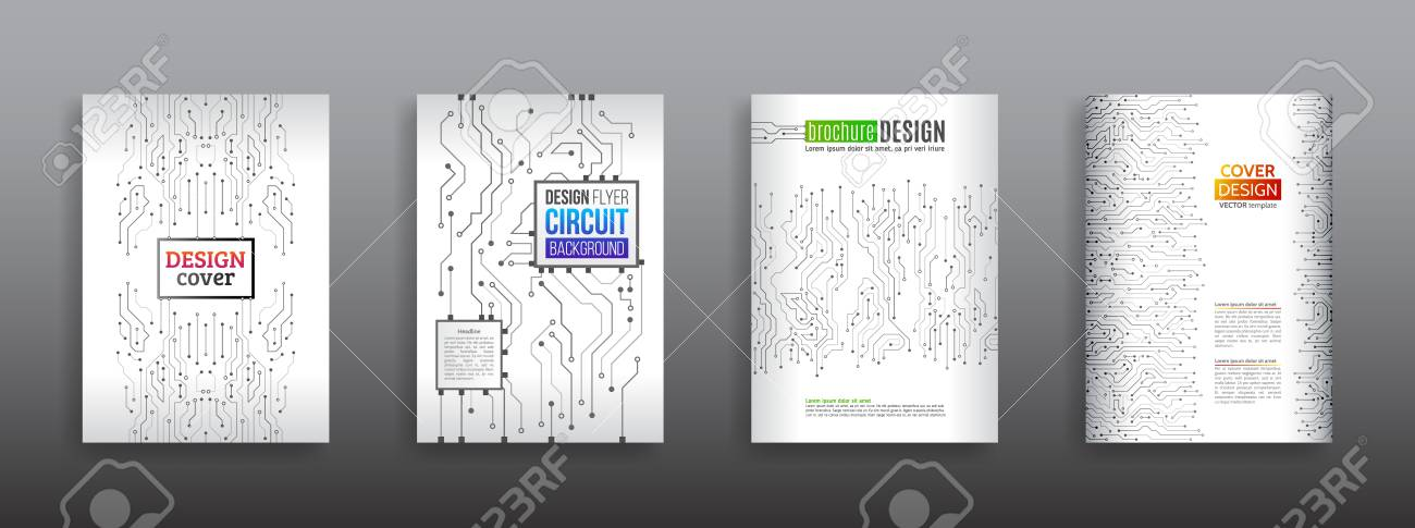 circuit board background for magazine cover technology