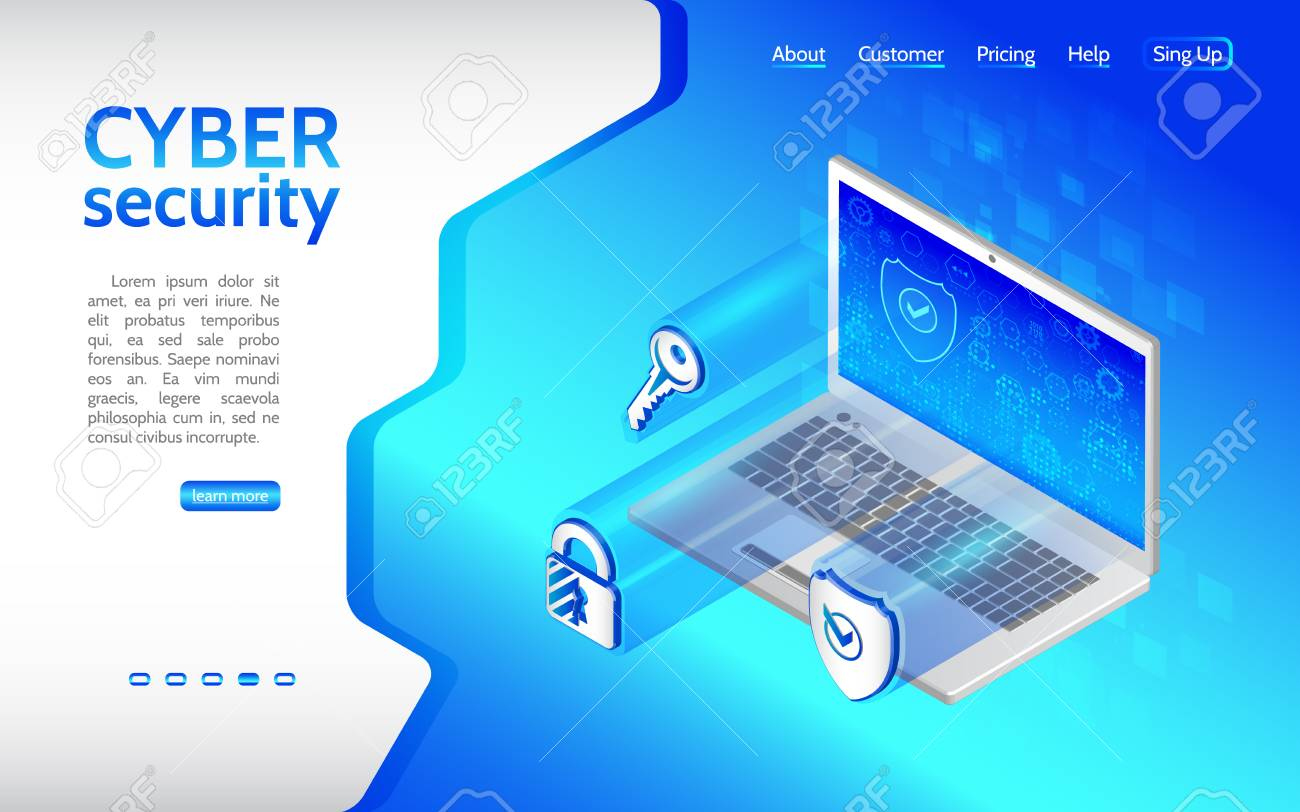 Cyber crime and data protection background with Laptop  Internet