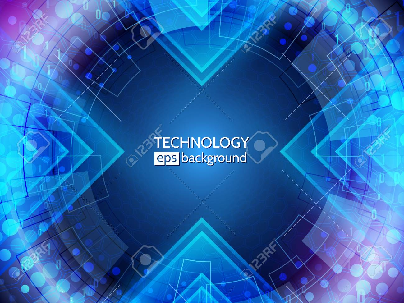 Abstract technology background. big data tunnel. Hi-tech communication concept - 126472399