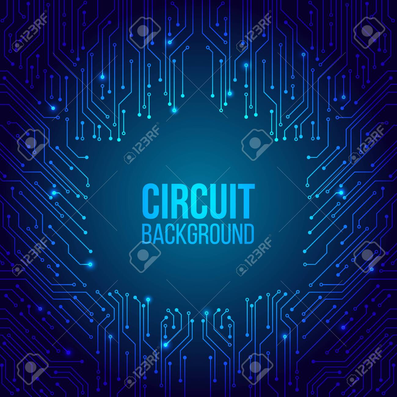 High-tech technology background texture. Circuit board minimal pattern. Science vector illustration. Abstract digital modern concept style. - 128279202