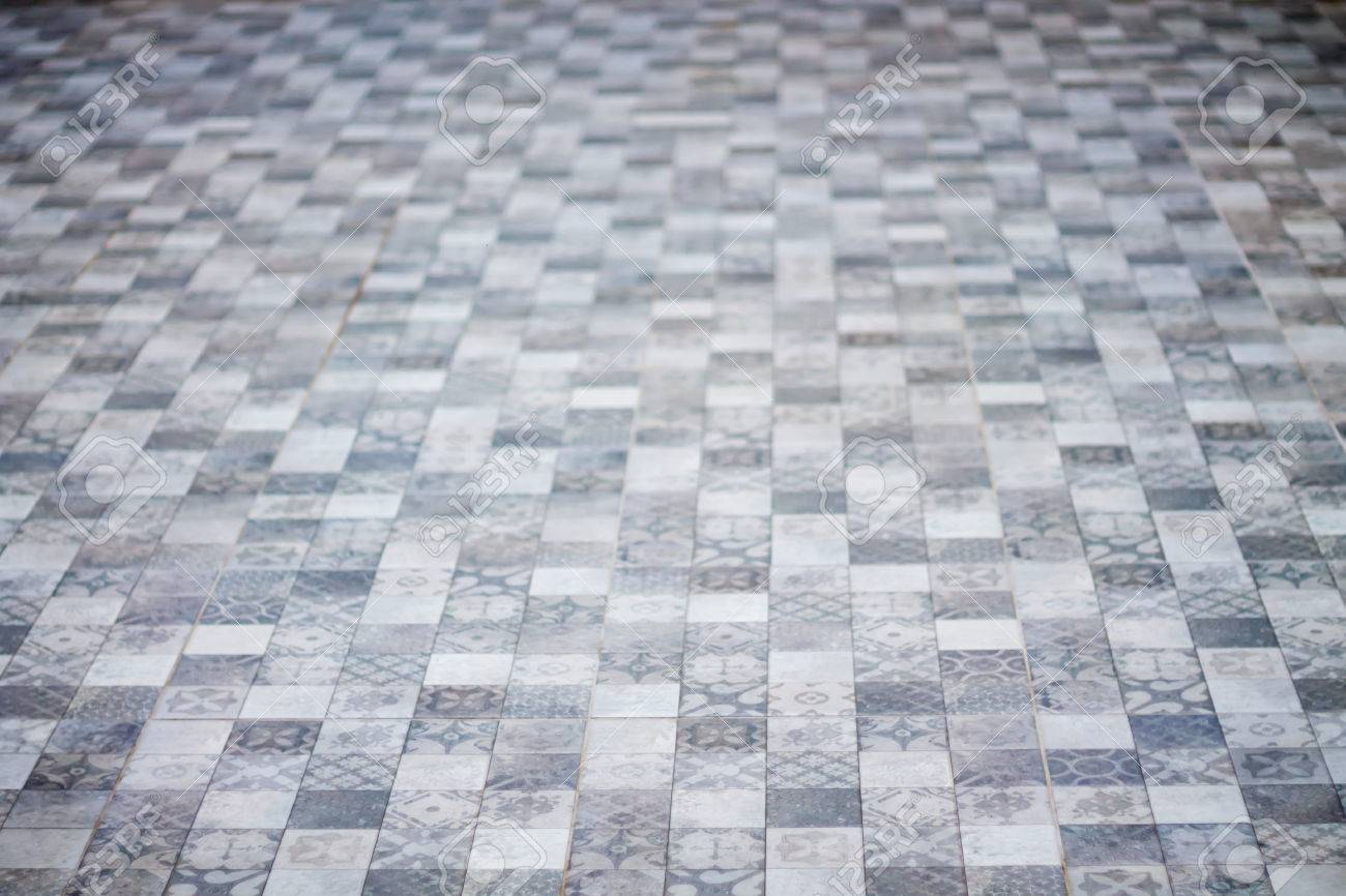 Abstract Background. Perspective Tiled Floor Pattern. Stock Photo ...