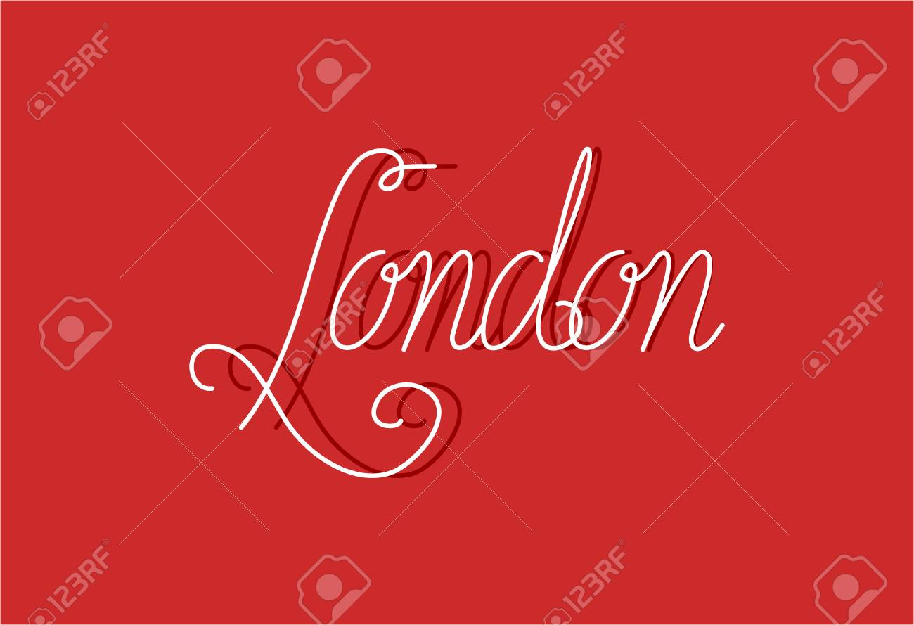 release date: 6a22c f9c2d Iscriviti a Londra può essere utilizzato per banner o biglietti di auguri  lettering monoline