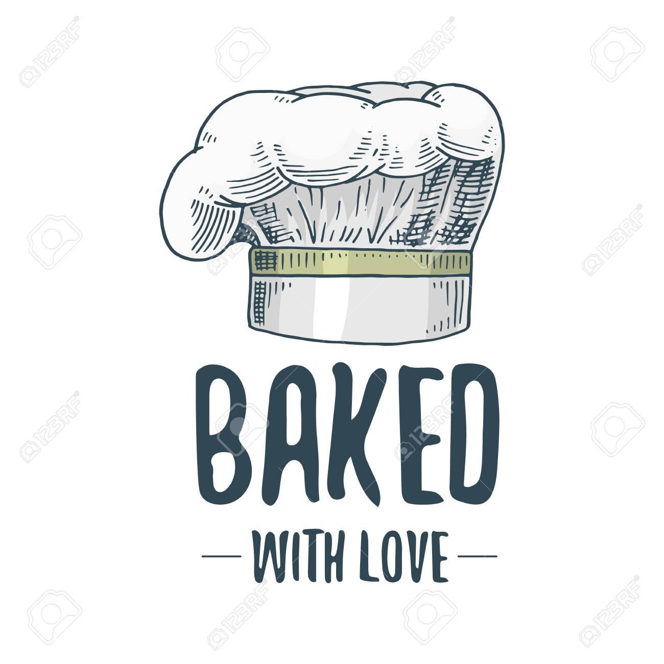 Ustensiles de cuisine ou de chef, articles de cuisine pour la décoration de  menus. cuisson logo emblème ou une étiquette, gravé à la main dessiné dans