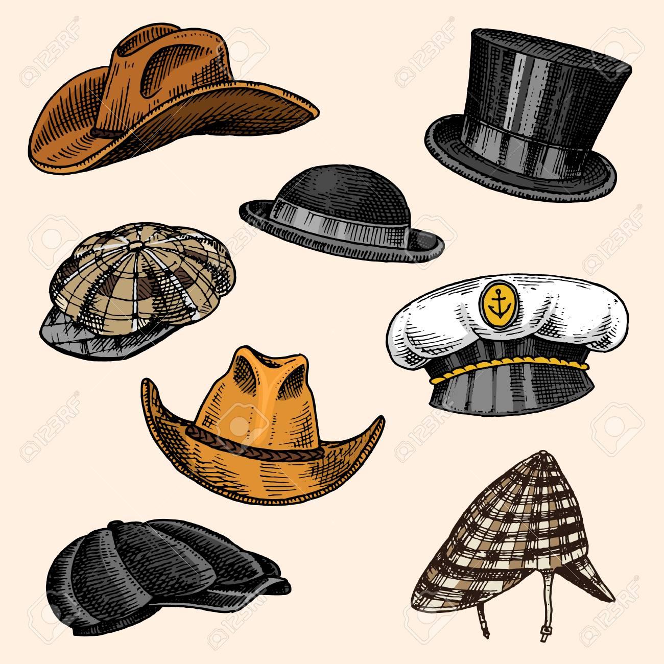 Summer Hats vintage collection for elegant men. Fedora Derby Deerstalker  Homburg Bowler Straw Beret Captain 39607ac1147