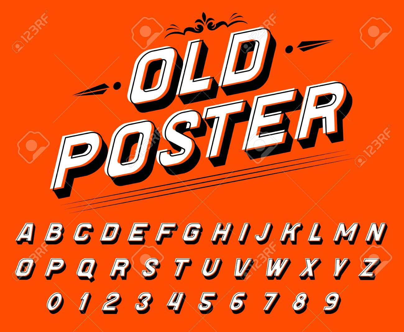 Pop art font for posters  Comic retro game alphabet  Vintage