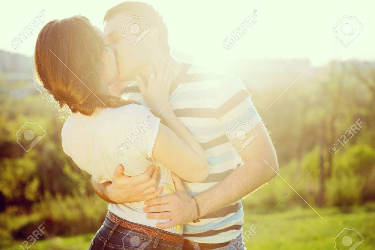 Young couple in love outdoor - 24920245