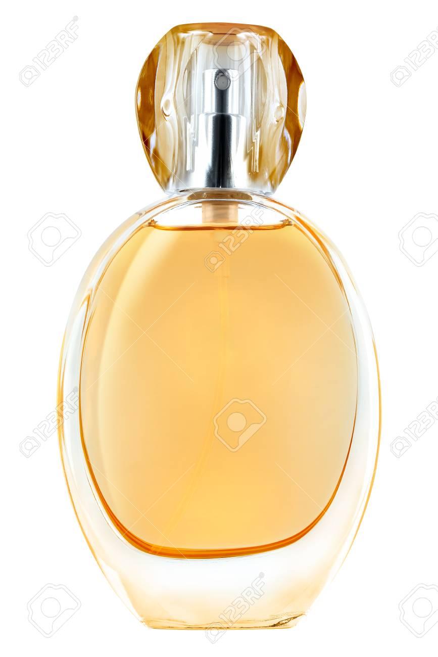 Blanc Orange Bouteille De Fond Parfum Couvercle Sur Avec TransparentIsolé Femme Qrdtsh