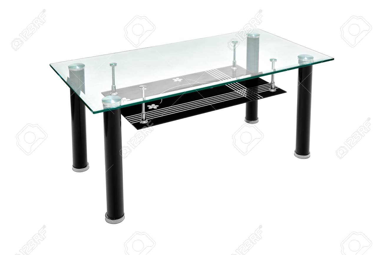 Black Glass And Aluminium Coffee Table Modern Table For The