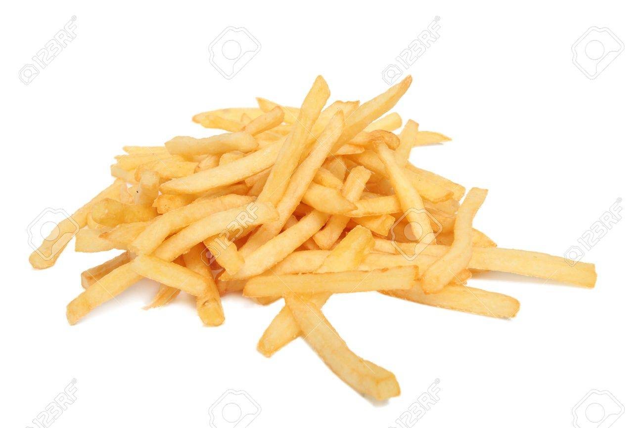 French fries isolated on white - 9273828