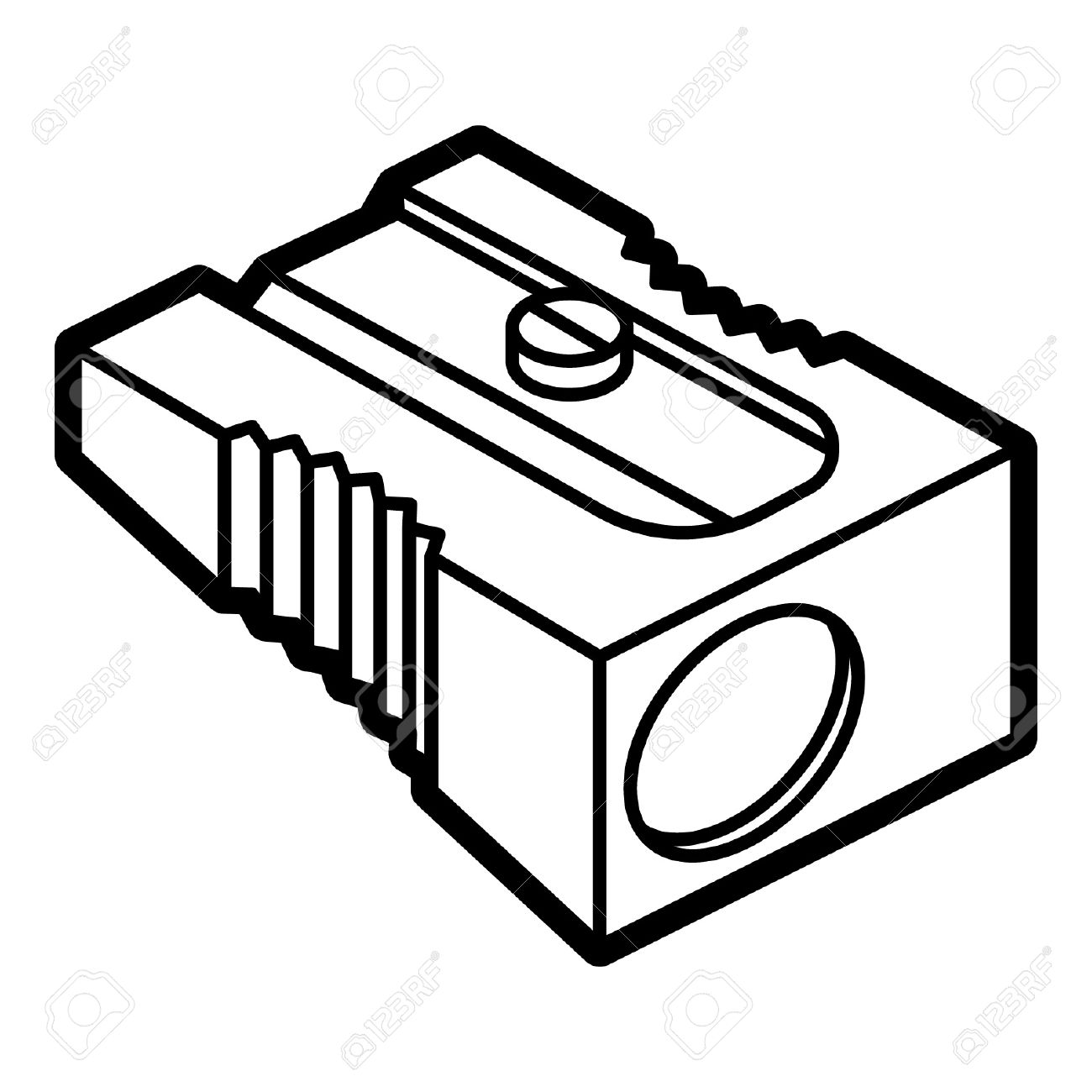 pencil sharpener outline icon royalty free cliparts, vectors, and