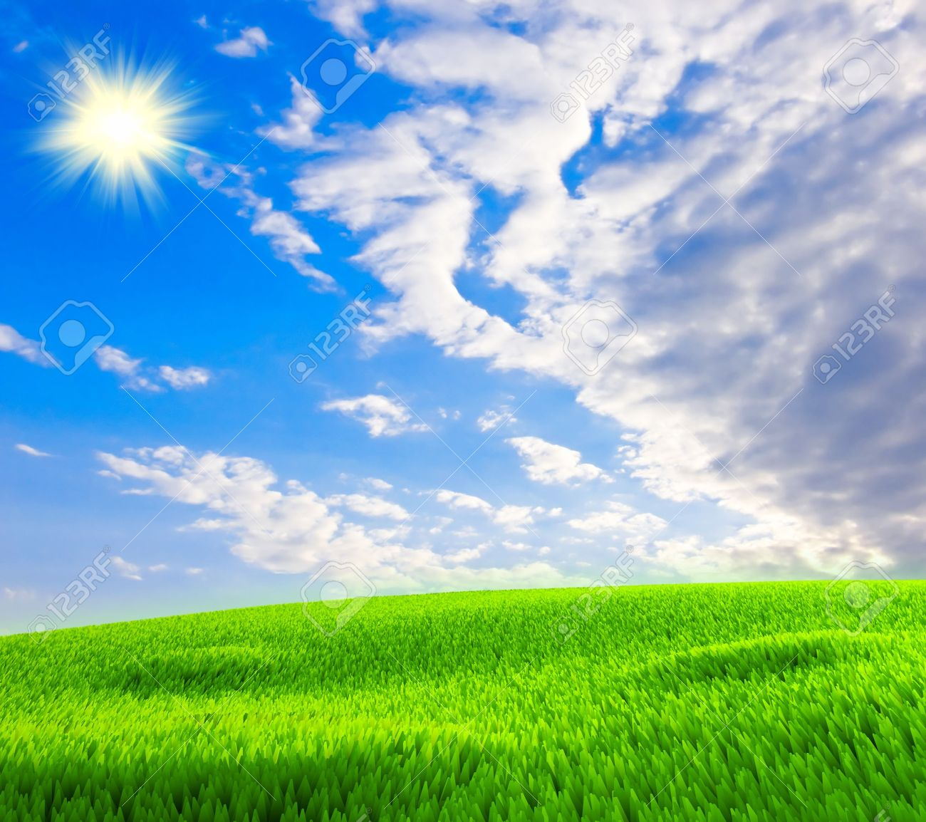 Sunny Weather In Summer Nice Background Stock Photo Picture And Royalty Free Image Image 5852077