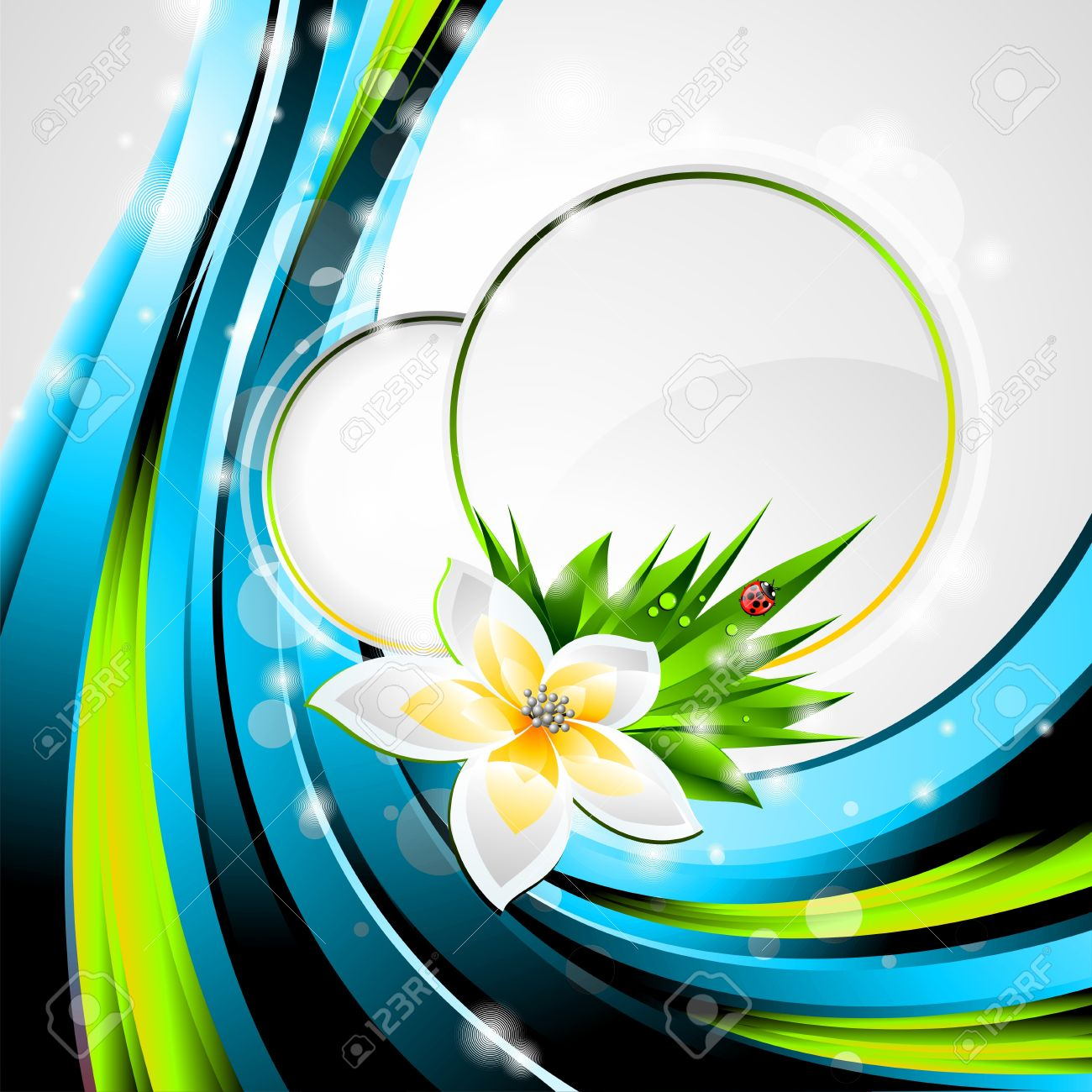 background design on a spring and nature theme with flower royalty
