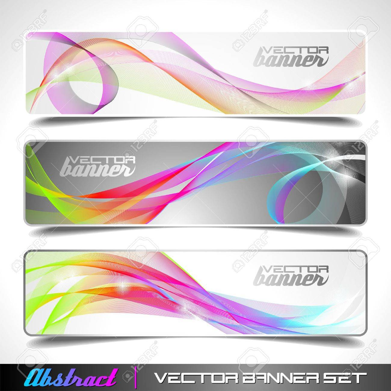 Three abstract vector banner background Stock Vector - 10413925