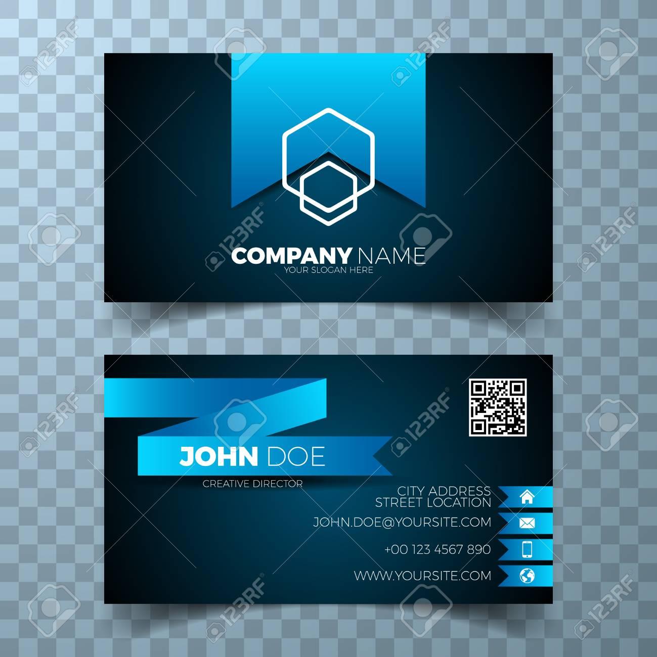 Vector modern business card design template on a clean backgound. - 82478710