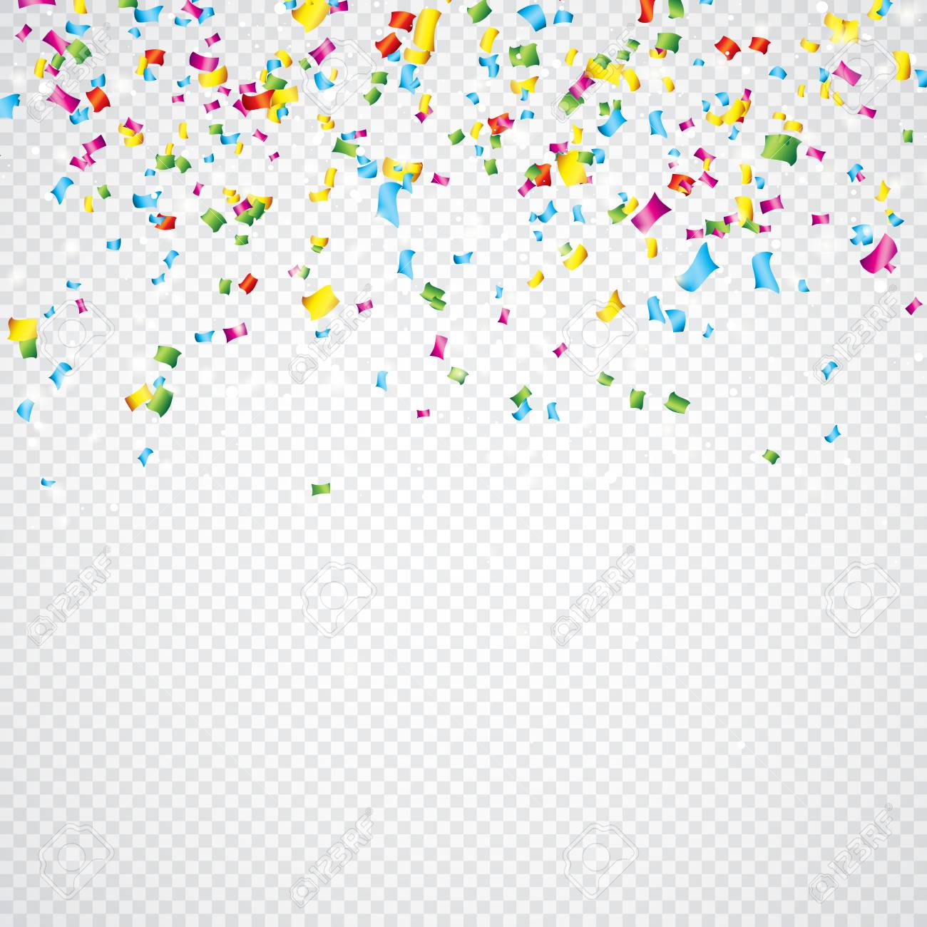 Colorful Vector Confetti Illustration On Transparent Background Royalty Free Cliparts Vectors And Stock Illustration Image 89142216 There is no psd format for confetti png transparent backgrounds, white, silver, party in our system. colorful vector confetti illustration on transparent background