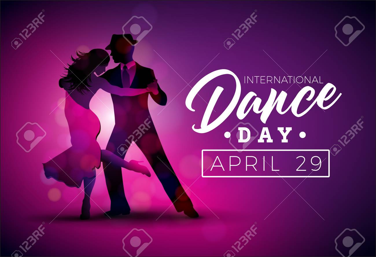 International Dance Day Vector Illustration with tango dancing couple - 99130808