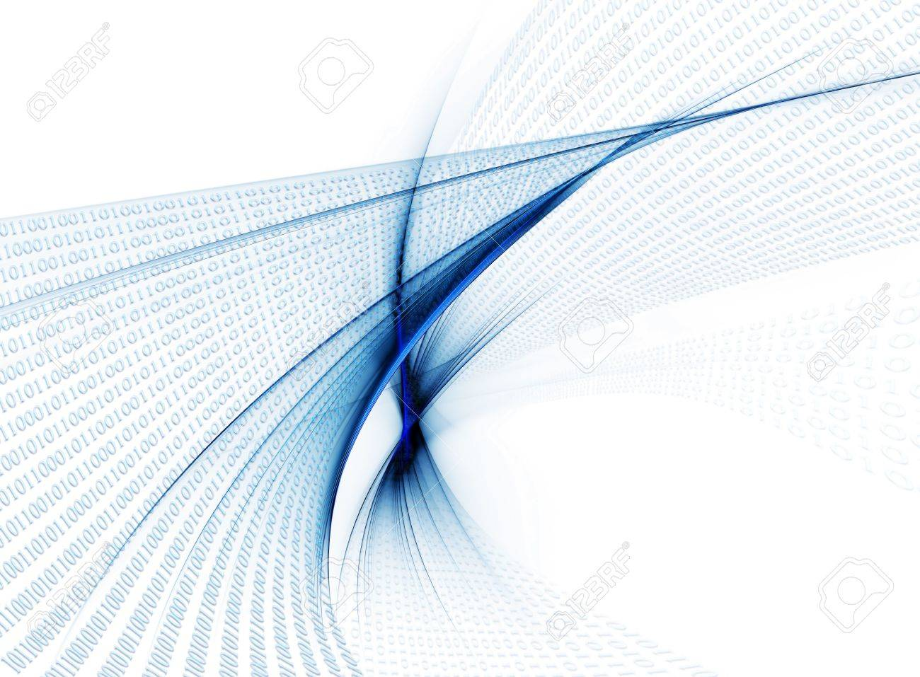 Internet concept, binary code data flow, communication Stock Photo - 4626746