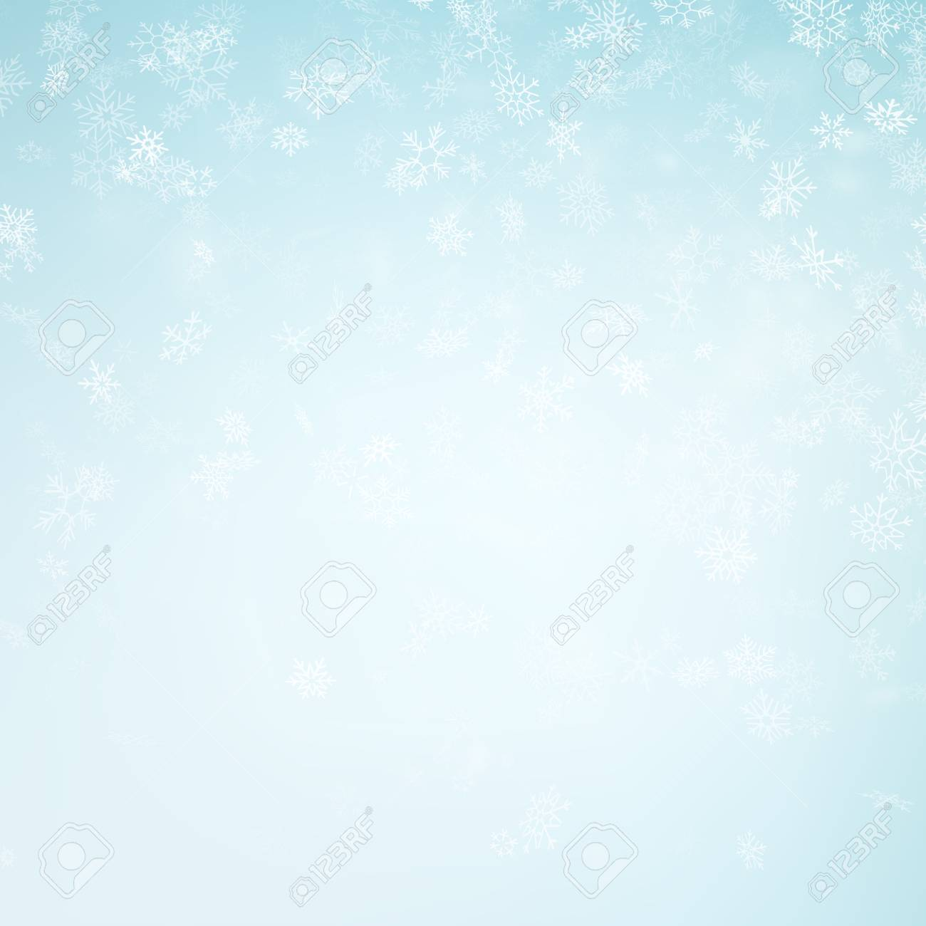 Abstract Christmas background with snowflakes. Elegant blue winter template. Eps 10 vector file - 126193176