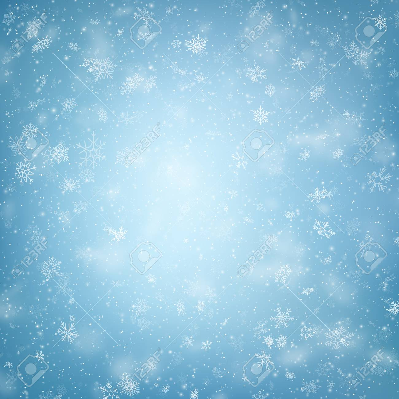 Blue Christmas snowflakes background. EPS 10 vector file - 126088289