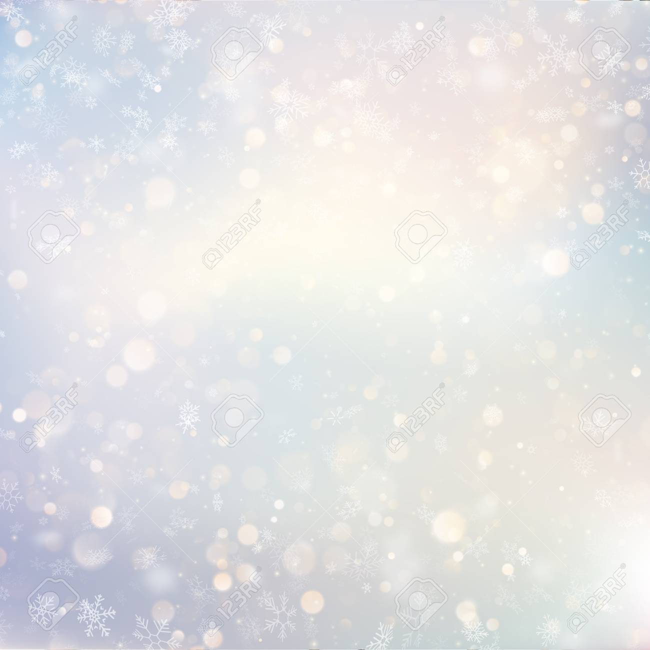 Christmas defocused snow light holiday glowing winter background with blinking blurred snowflakes. Holiday glowing backdrop. EPS 10 vector file - 125984657
