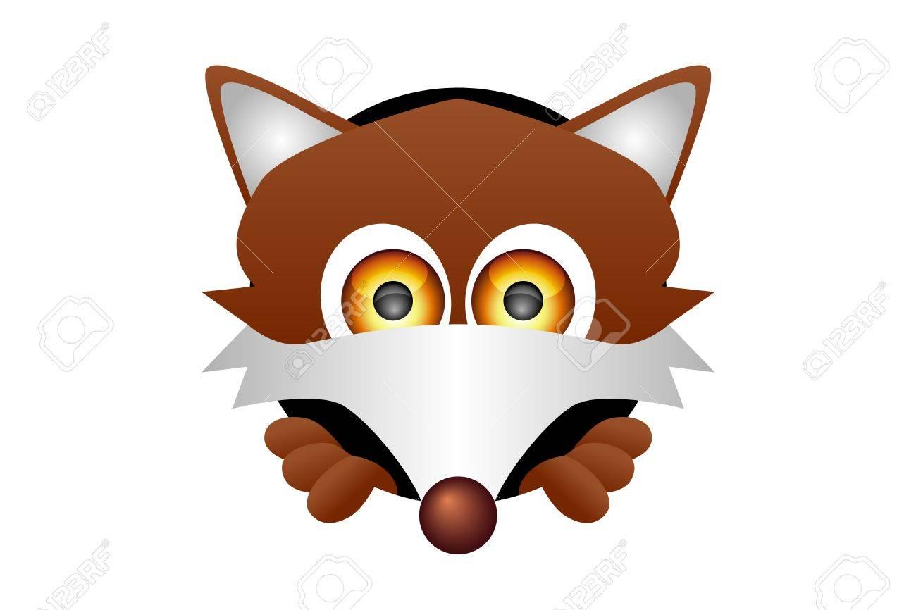 illustration of a fox head  Fox Head Illustration