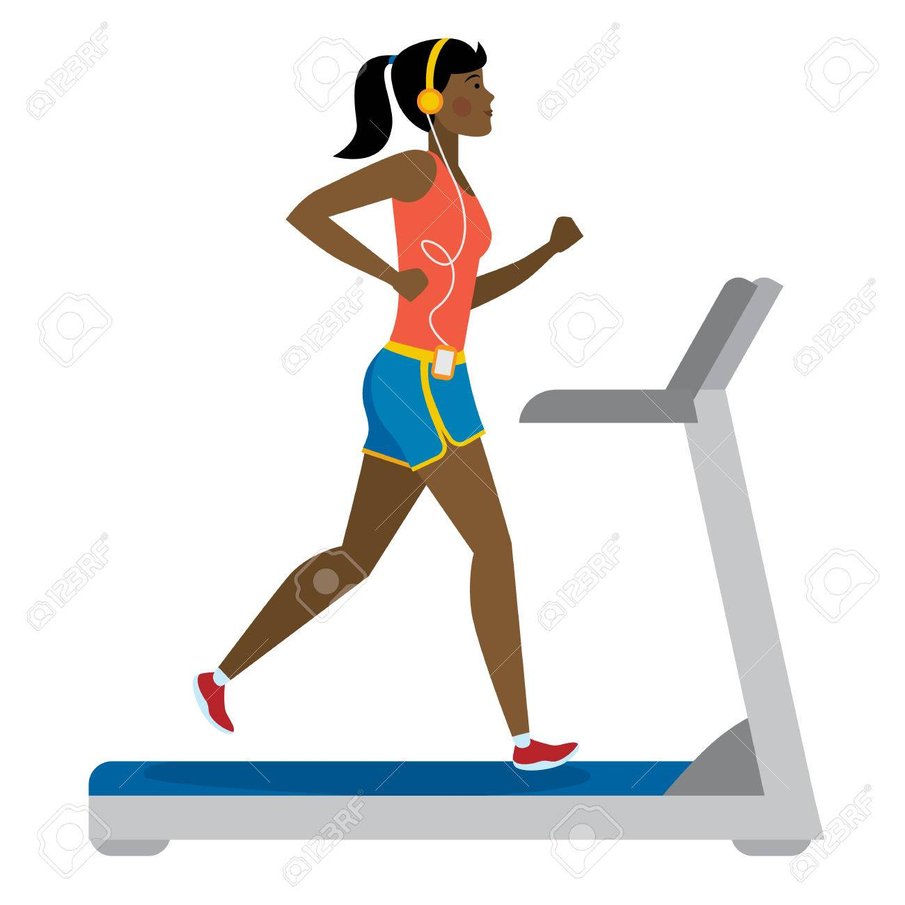 Image result for girl running getting fit cartoon free image