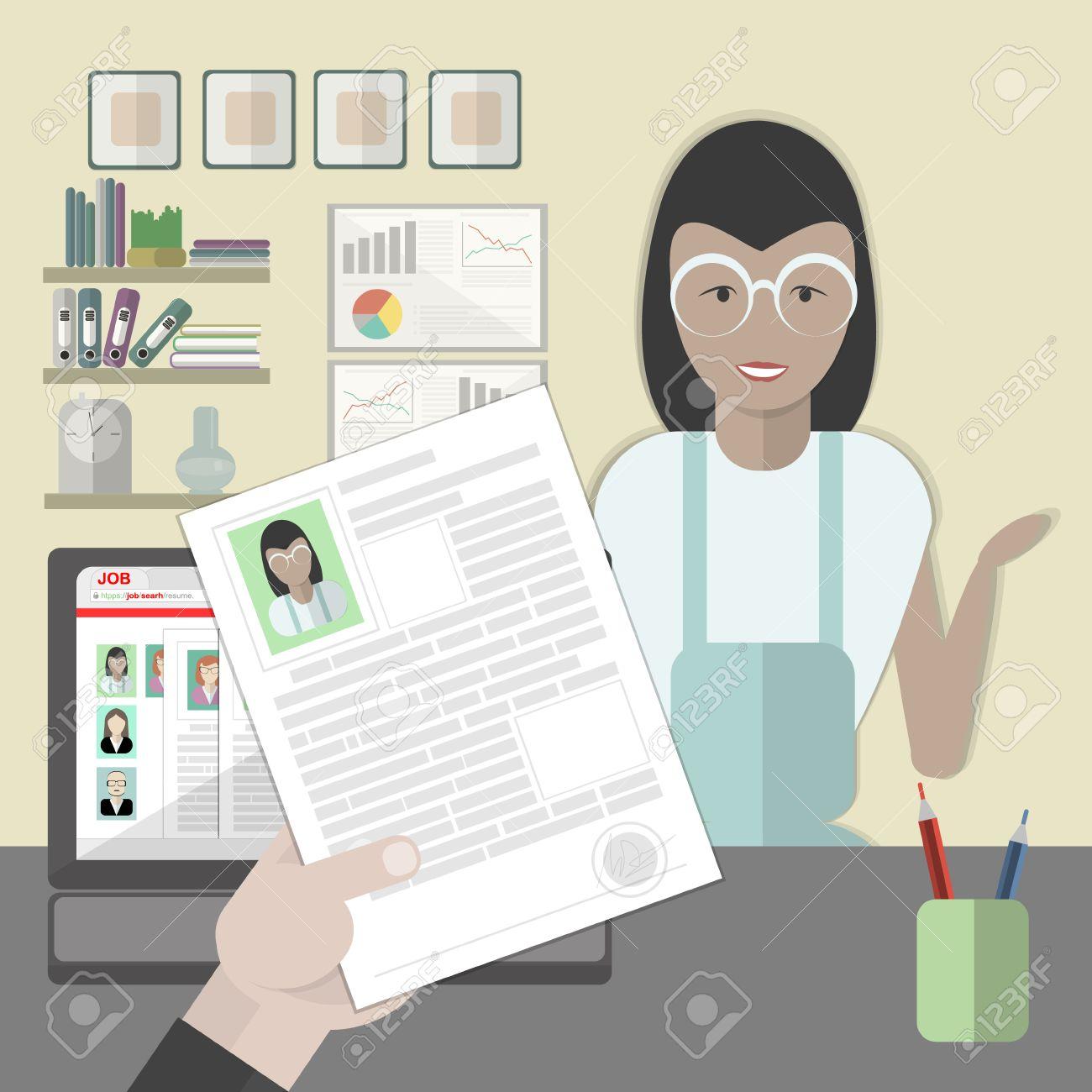 Entrevista De Trabajo Con La Hoja De Vida Femenina. El Reclutamiento ...