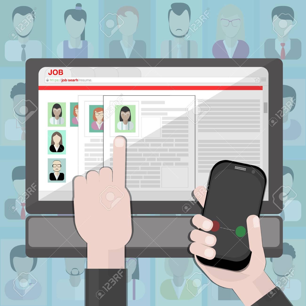 Finden Lebenslauf Und Mieten. Die Suche Nach Personal Im Internet ...