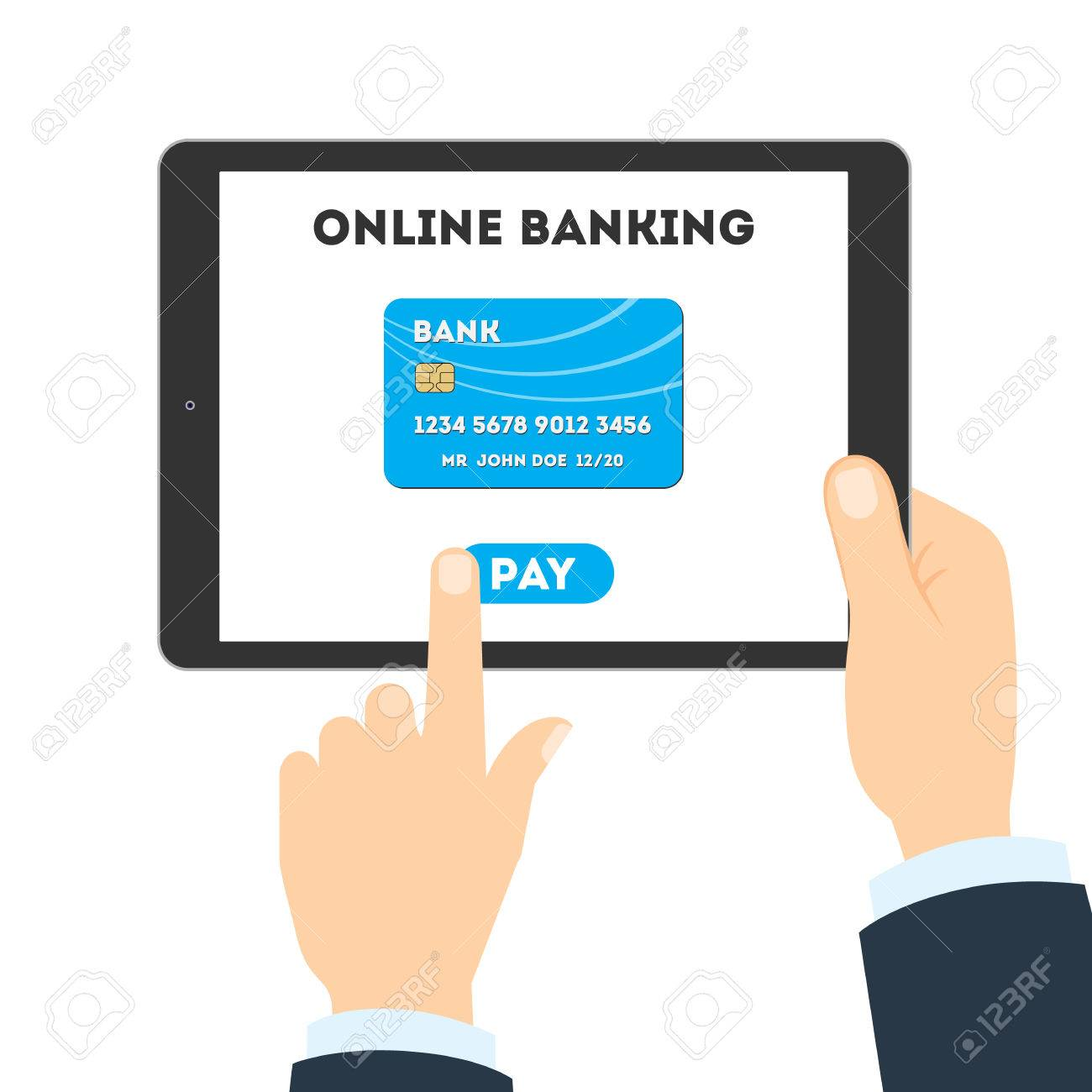 online banking concept checking balance sending money and making