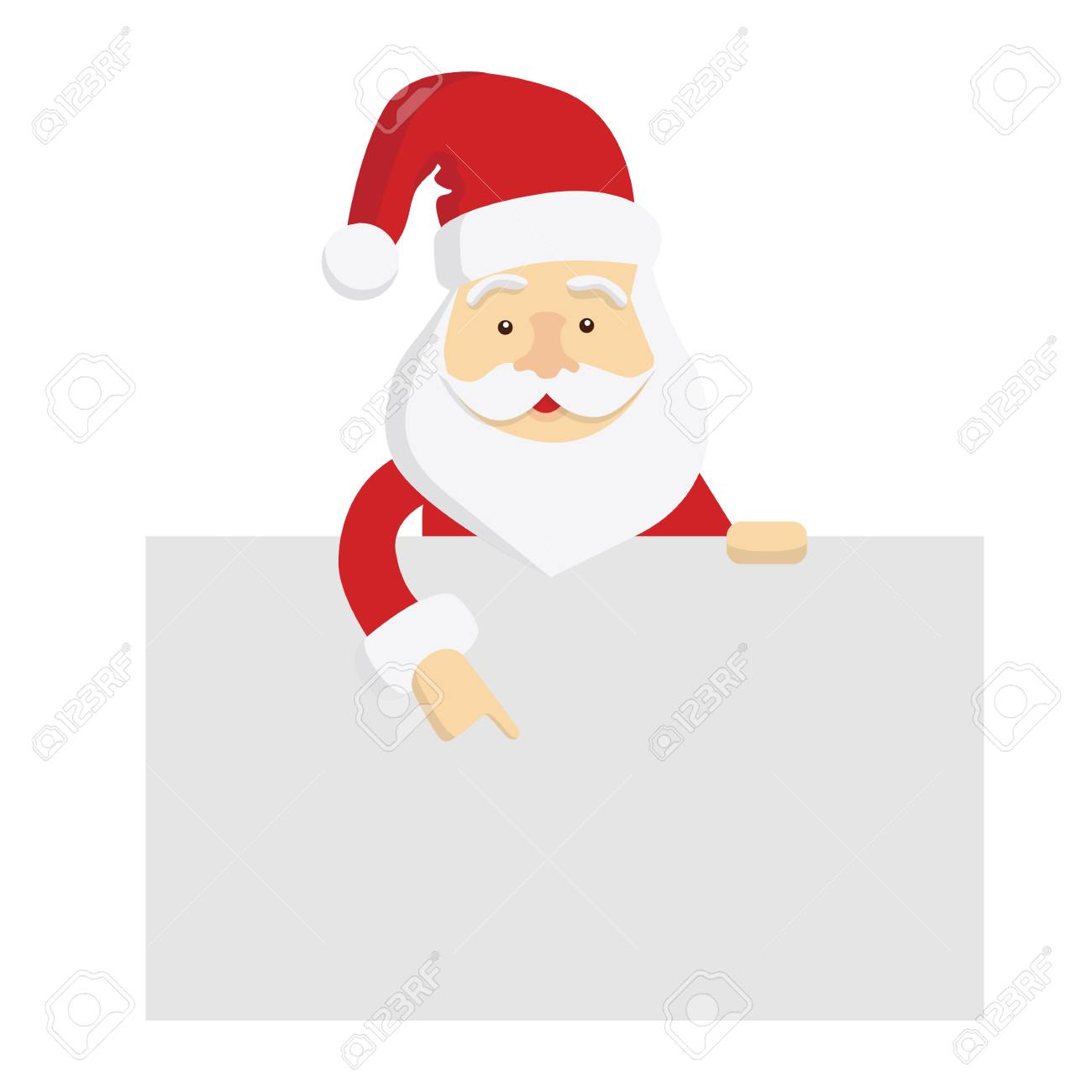 Santa Claus Template. Isolated Santa With Template Space For ...