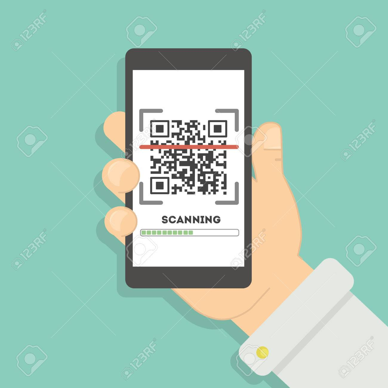 Scanning qr code with smartphone  Mobile scan app for reading