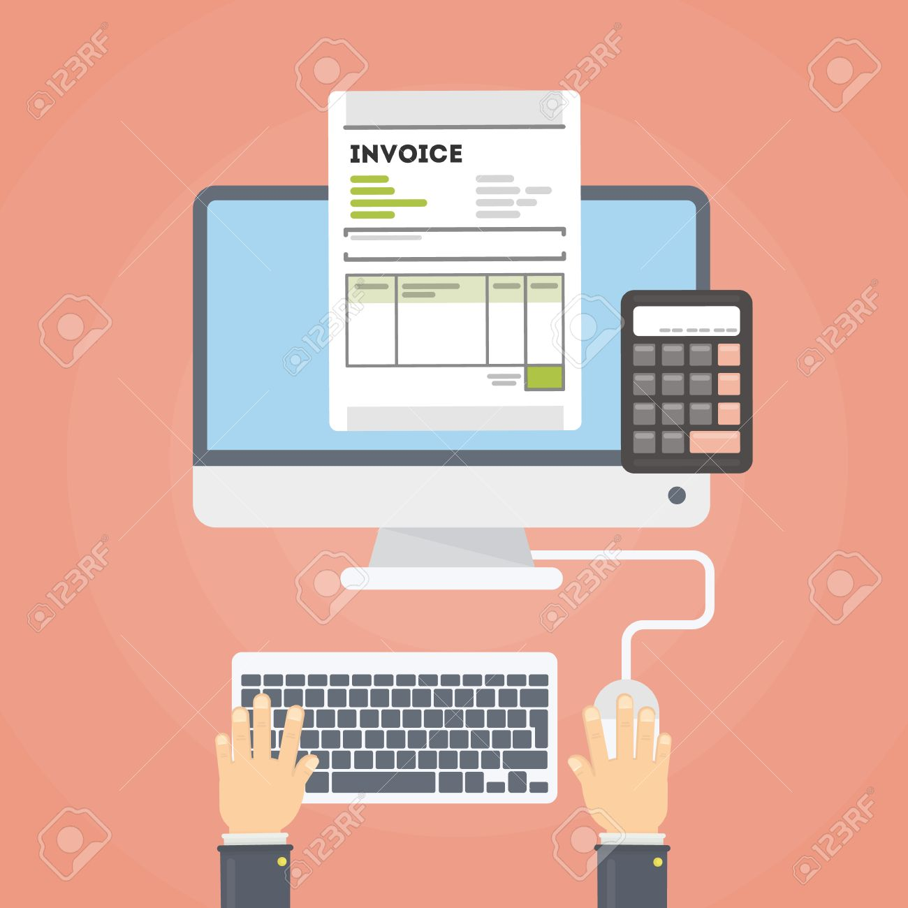 Invoice Concept Illustration Invoice Documents With Hand With - Invoice finance calculator