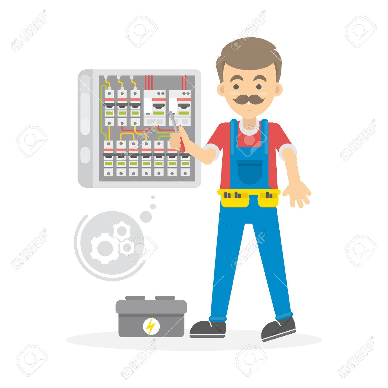 Fantastic Cartoon Man In Wires Photos - Electrical System Block ...
