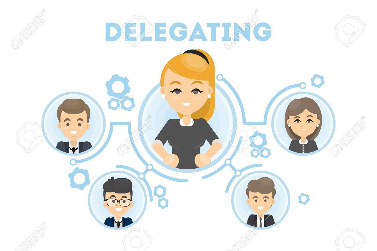 Delegating business illustration. - 85133808