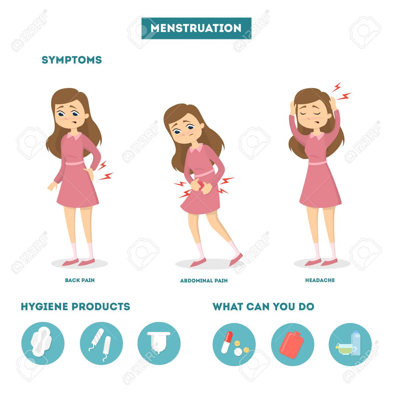 Menstrual Pain Illustration Royalty Free Cliparts Vectors And Stock Illustration Image 86627153